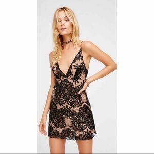Free People Night Shimmer Mini Dress Size 6 NWT